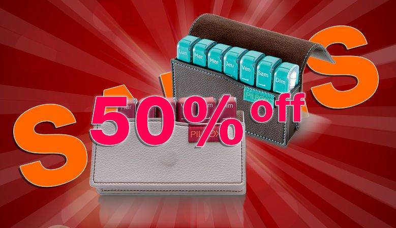 Pilbox Mini, the perfect pill organiser for travel is 50% off !