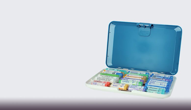 A storage case specially designed for storing tubes of homeopathic medicines